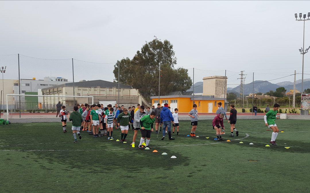 4ª Jornada de entrenamiento categoría sub 14. Polideportivo Mateu Cañellas, campo de Bocs.