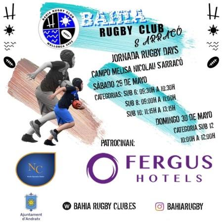 6ª Jornada de Rugby Day's, organiza Bahía R.C. Polideportivo Melisa Nicolau (Andratx) 29 y 30 de mayo 2021